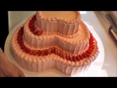 Торт сердце: самый простой и быстрый способ украшения торта кремом и клу...