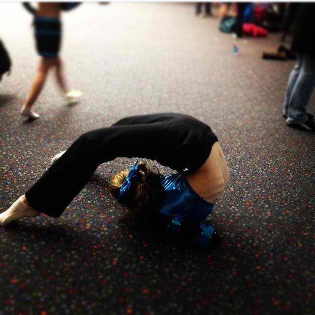 Be sure to stretch! Capital cheer michigan train hard! Flyer stretch flexibility