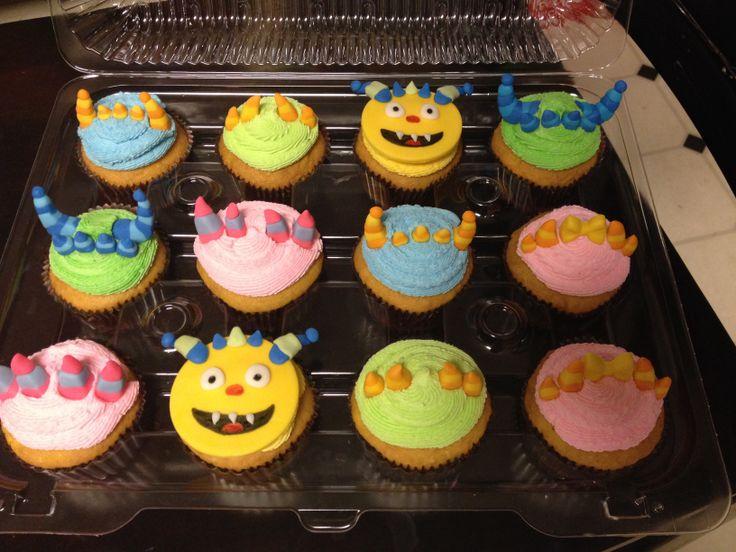 Henry Hugglemonster cupcakes