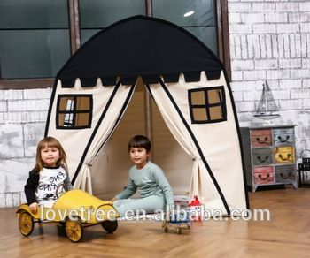 Kids Girl's Castle Kids 100% Cotton Canvas Play Tent House For Kids