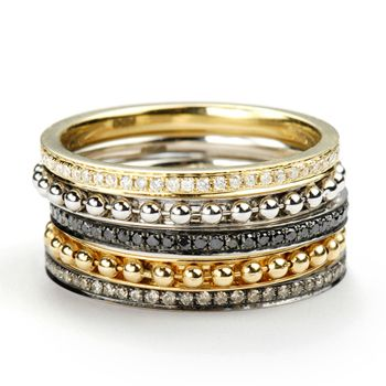 Annoushka yellow and white gold stackable ring collection - This is gorgeous!!!