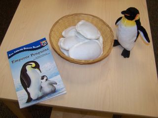 "Adorable penguin song and ""carry the egg"" activity!"
