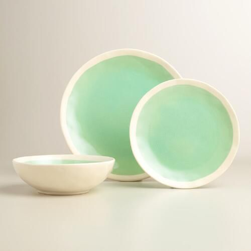 Aqua Henley Dinner Plates - World Market