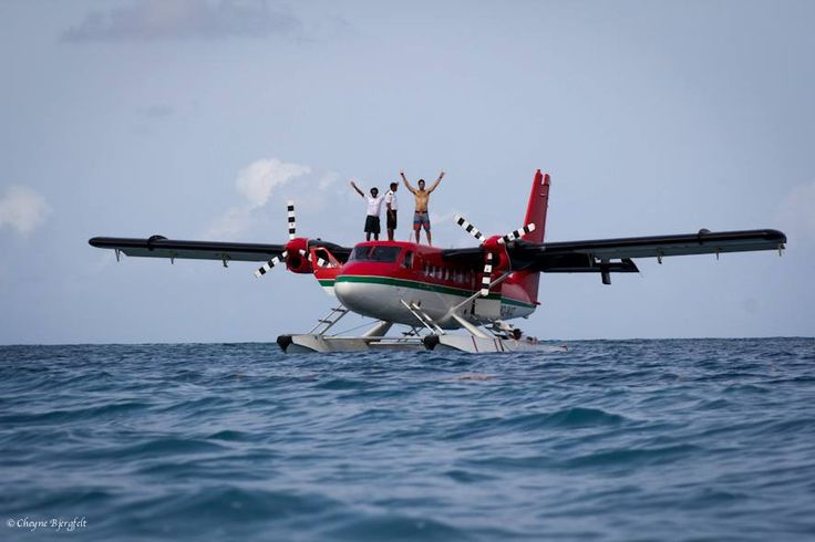 Tropicsurf seaplane surfing. Prepare for takeoff. Departing daily from @Four Seasons Resorts Maldives