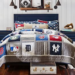 Awesome Baseball Theme Bedding Decor From MLBTM Quilt Sham