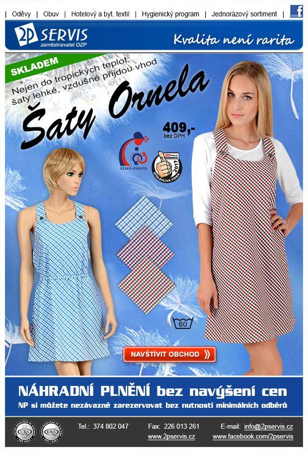 ★ ★ Příjemně lehké a parádně vzdušné šaty Ornela ★ ★