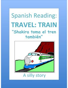 Help students learn vocabulary related to travel and the train through this silly story, written entirely in the present tense.     Marisa is failing math and her parents won't allow her to attend the Shakira concert this weekend. Marisa decides to run away and take the train to get to the concert in Madrid. Imagine her surprise when she sees Shakira herself in the first class car!