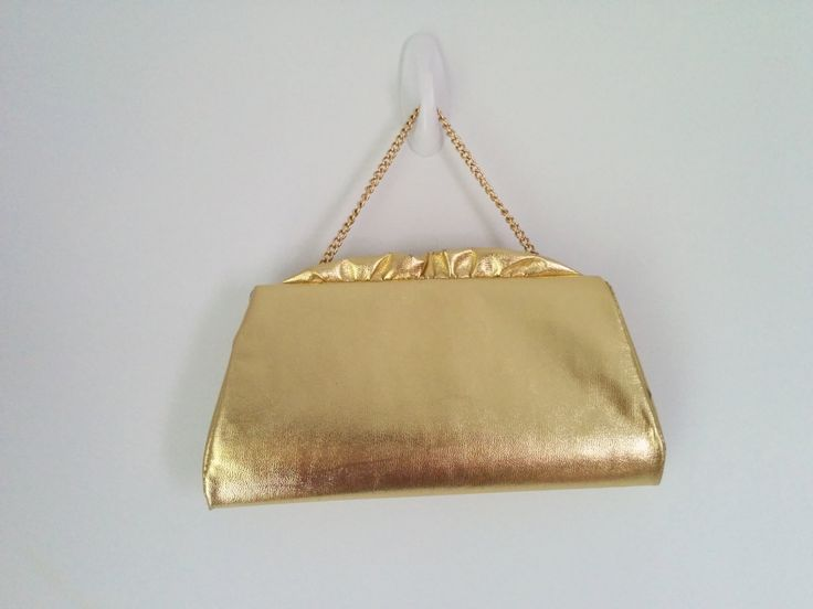 Vintage Gold Metallic Glam Handbag perfect for adding a little vintage glam to your outfit!