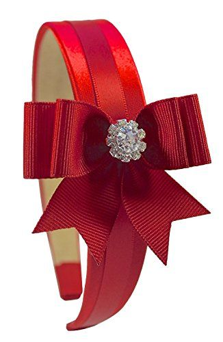 Girls Elegant Rhinestone Bow Satin Headband Funny Girl Designs (Red) Funny Girl Designs http://www.amazon.com/dp/B00U1SKAQA/ref=cm_sw_r_pi_dp_Zakywb199TC3K