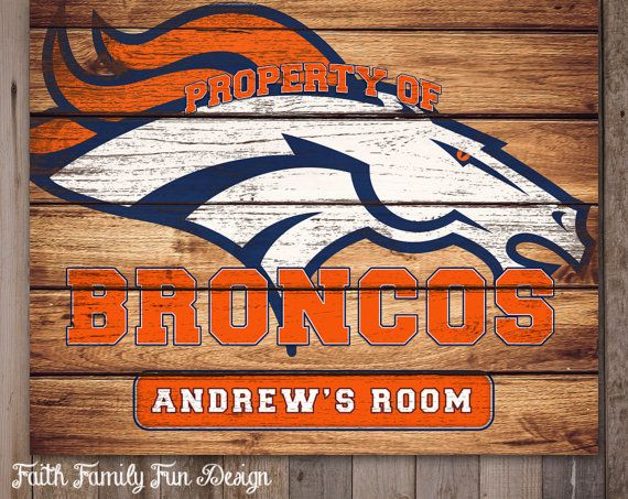 Have your own customized Denver Broncos sign hanging in your office, your home, your kids room, or anywhere else that you want to show off