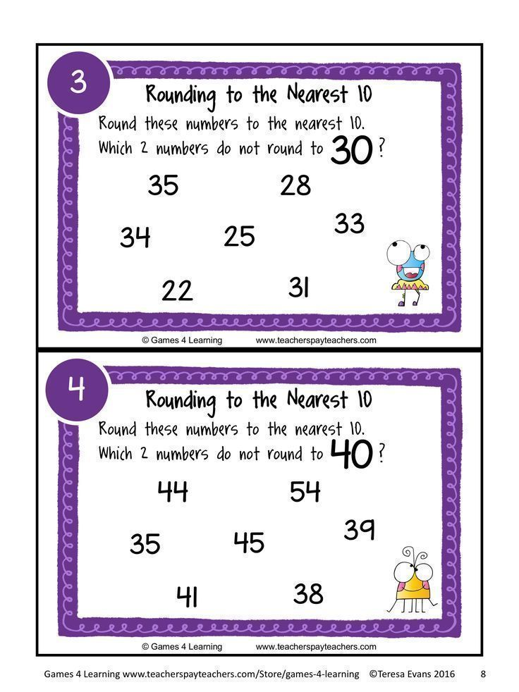 Rounding Task Cards: Rounding to the Nearest 10 - 30 Rounding Numbers Task Cards by Games 4 Learning for reviewing rounding to the nearest 10 with 2, 3 and 4 digit numbers. #roundingnumbers #fourthgrade #thirdgrade #math #mathideas #mathactivities