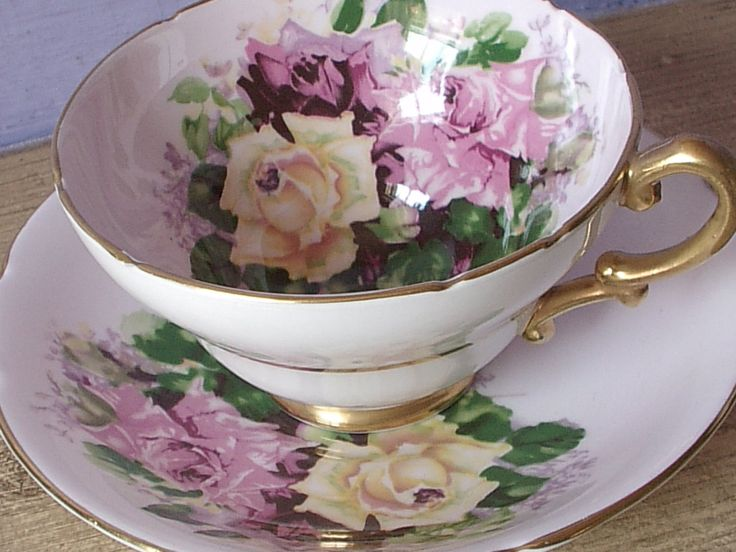 Antique English roses teacup and saucer, Stanley pink roses tea cup, Yellow rose bone china tea cup, Antique teacup, Mother's day gift by ShoponSherman on Etsy