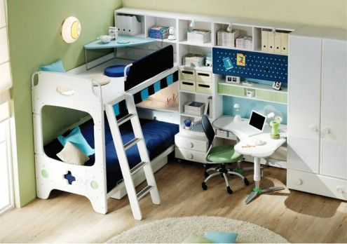 This would be a great layout for a small room/dorm.: Student Bedroom, Bedrooms Design, Bunk Bed, Bedrooms Bunk, Student Room, Bedrooms Furniture, Bedrooms Ideas, Kids Rooms, Rooms Kids