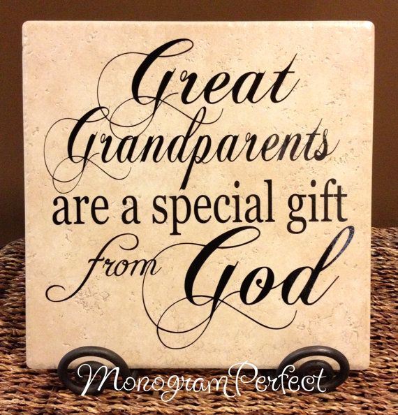 Great Grandparents Are A Special Gift From God Decorative Tile on Etsy, $24.95