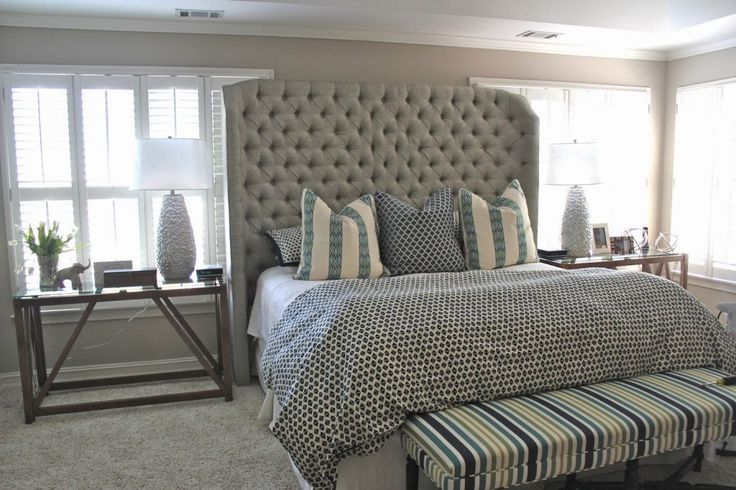 Tall king size headboards tall headboards for super - King size headboard ideas ...