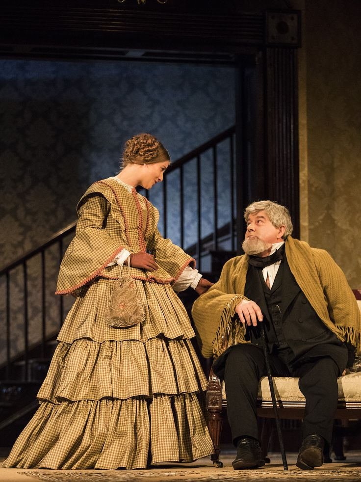 Mary Lou McCarthy and Denis Conway in The Heiress by Ruth and Augustus Goetz, based on the novel Washington Square by Henry James