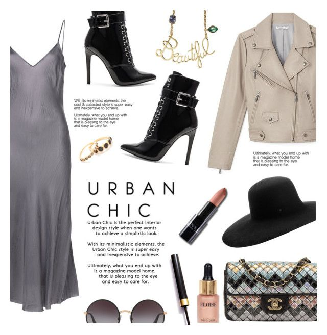 """So So Chic"" by lisalockhart ❤ liked on Polyvore featuring Organic by John Patrick, Chanel, Danielle Guizio, Maison Michel, Eloise, Dolce&Gabbana, Lanvin, Gorjana, StreetStyle and ootd"