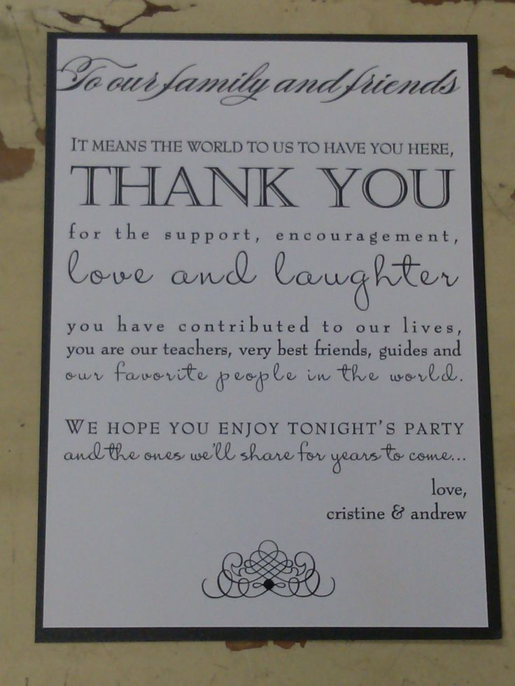 The 25 best Wedding thank you wording ideas – What to Write in Wedding Thank You Cards Sample