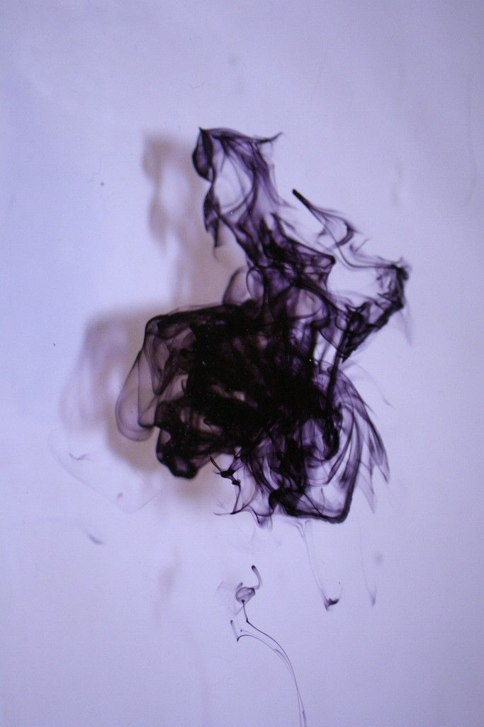 ink in water.