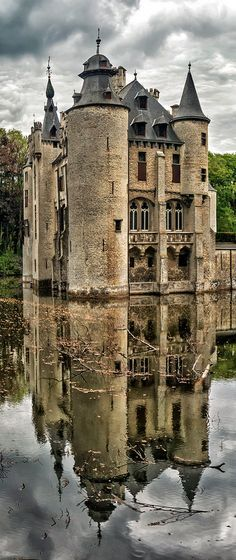 Vorselaar Castle, Belgium - The castle De Borrekens at Vorselaar (near Herenthals) is a a medieval castle from the thirteenth century which was rebuilt in a neo-Gothic style in the nineteenth century, between 1866-1884. In the thirteenth century, it belonged to the Van Rotselaar family, who were stewards of the Dukes of Brabant. Surrounded by a moat, and guarded by fortified towers at the entrance, it is powerfully evocative of the late middle ages. The castle is still privately owned.