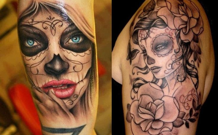 Check Out Best Day of the Dead Tattoos. The Day of the Dead or Dia de los Muertos is a Mexican celebration that happens every year from October 31 – November 2.