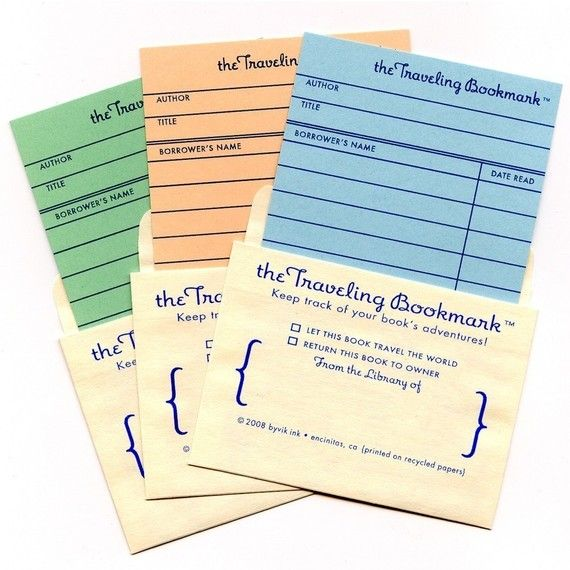 Guiltless Reading Bookmarkmonday The Traveling Bookmark Card Set Bookmarks Book Themed Birthday Party