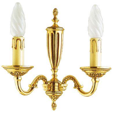 Applique bronze Louis XVI 2 lampes - Maison Lucien Gau  Comptoir des Lustres