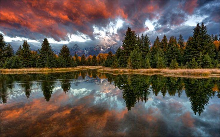 Природа США национальный Парк Гранд-Титон Вайоминг снейк-ривер Schwabachers Посадки 'Размер Украшения Дома Холст Печати Плакатов
