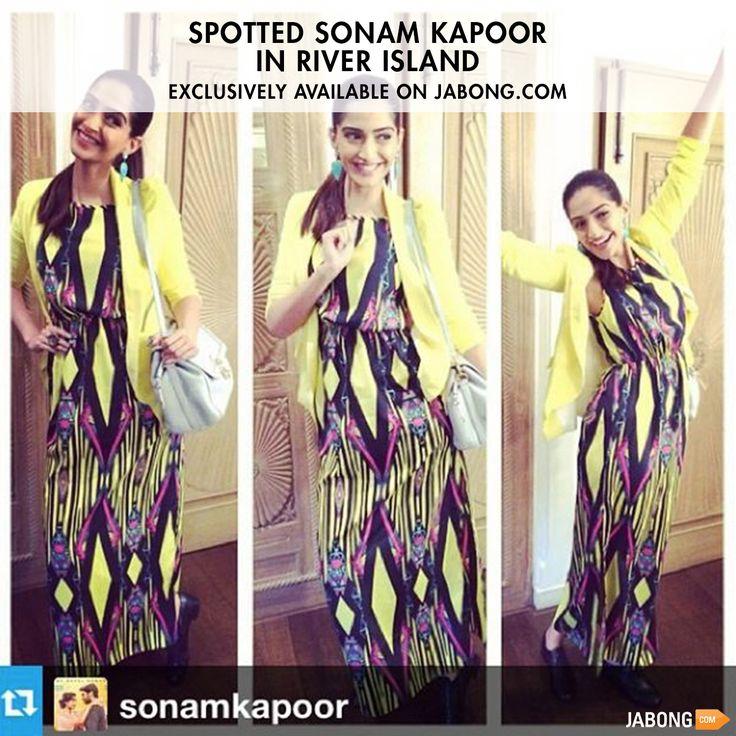 "The Fashion Diva, ""Sonam Kapoor"" happily flaunts River Island from Jabong.com"