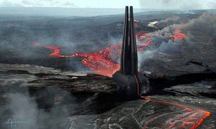 Darth Vader's Castle - Rogue One Concept Art
