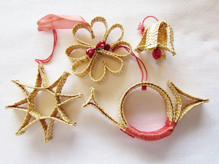 222 best Stro  Kerst images on Pinterest  Handmade ornaments