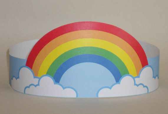 Create your own Rainbow Crown! Print, cut & glue your rainbow crown together & adjust to fit anyones head!    • A .pdf file available for instant