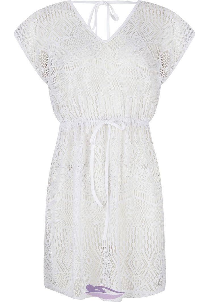 Pastunette Beach white crochet beach cover-up - Relax in style by the pool!