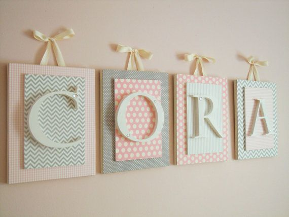 Custom Nursery Letters. Hand cut and carved to fit any nursery or bedroom decor. Check out our etsy shop at https://www.etsy.com/shop/LoveyLettersbyLeah?ref=hdr_shop_menu