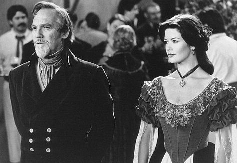 movie inspiration  Still of Catherine Zeta-Jones and Stuart Wilson in The Mask of Zorro
