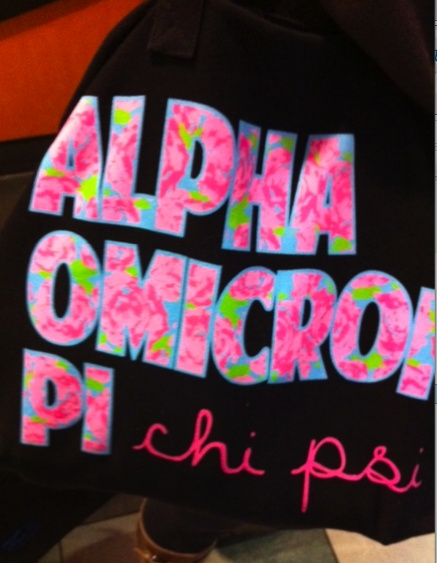 love the idea of mixing the sorority and fraternity names!