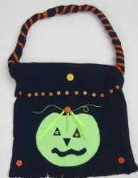 Recycled Tee Halloween Tote