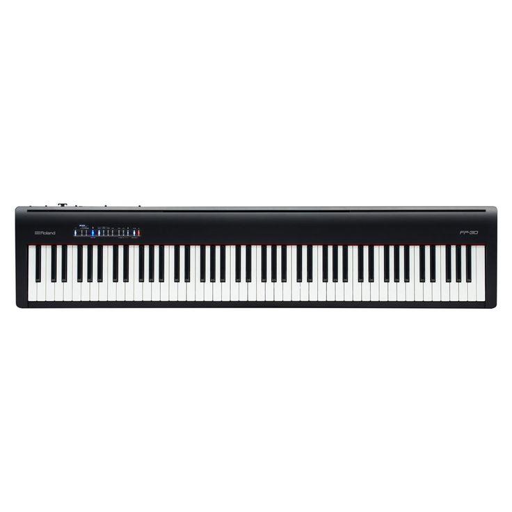 Roland FP-30 88 Key Digital Piano with Supernatural Sound Engine and Bluetooth - Black
