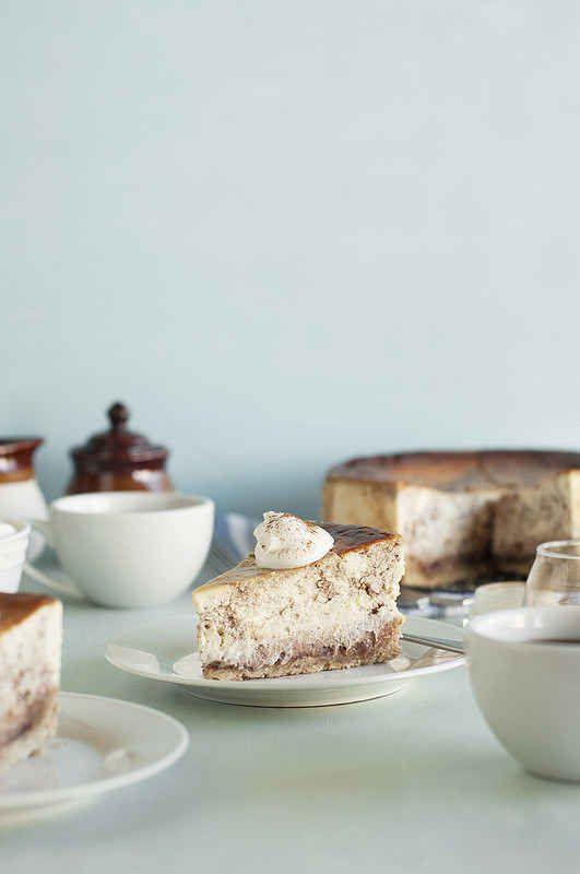 Cinnamon Swirl Cheesecake with Oatmeal Cookie Crust, just perfect