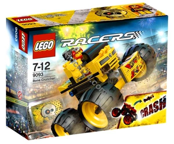Lego Racers Bone Cruncher. Miażdżący siłacz to zestw w serii Racers, składa się z 87 elementów,w  tym 1 minifigurkę Lego i jest przeznaczony dla dzieci w wieku 7-12 lat. Zbuduj wielką żółtą ciężarówkę i posadź za jej kierowniczą - Motor Mike'a. Mike chce się ścigać i wygrać walkę na arenie dla wielkich ciężarówek.