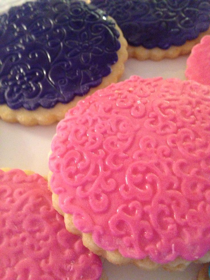 Butter cookies !  Pink n purple