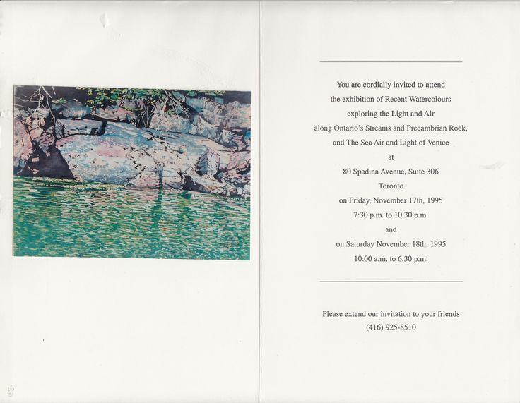 zarowsky georgian bay watercolours 1995  - 80 spadina suite 306 toronto