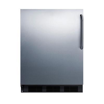 Summit Appliance 24 in. W 5.5 cu. ft. Freezerless Refrigerator in Stainless Steel