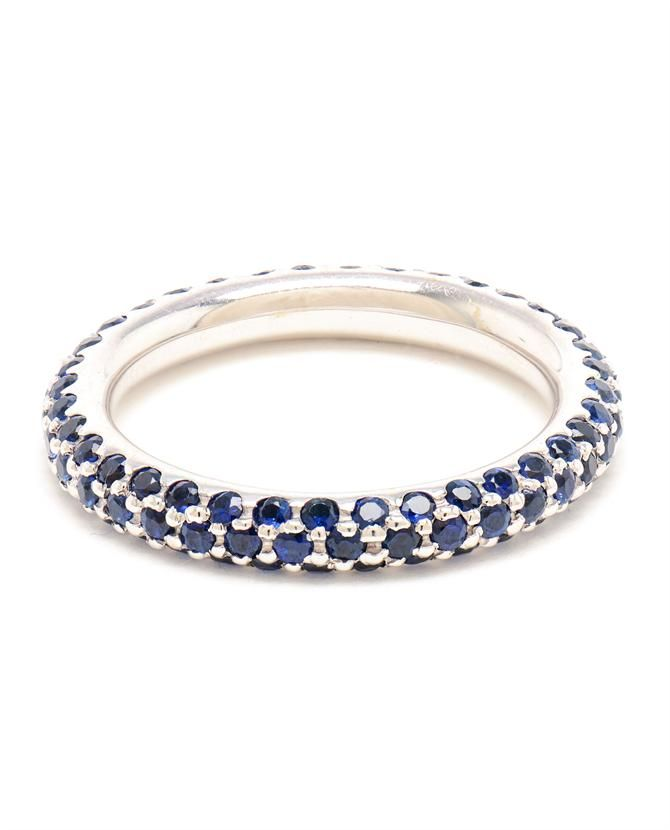 Carolina Bucci White Gold And Sapphire Ring,check out our full collection at: www.closetonthego.com/eshop