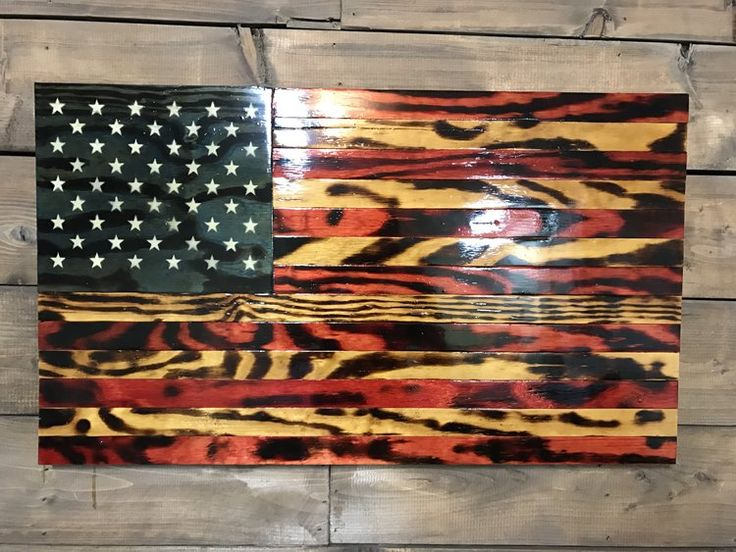 Rustic glory wooden american flagwooden