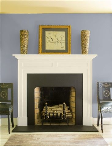 Look At The Paint Color Combination I Created With Benjamin Moore Via Walls Excalibur Gray 2118 50 Mantel Monterey White Hc 27