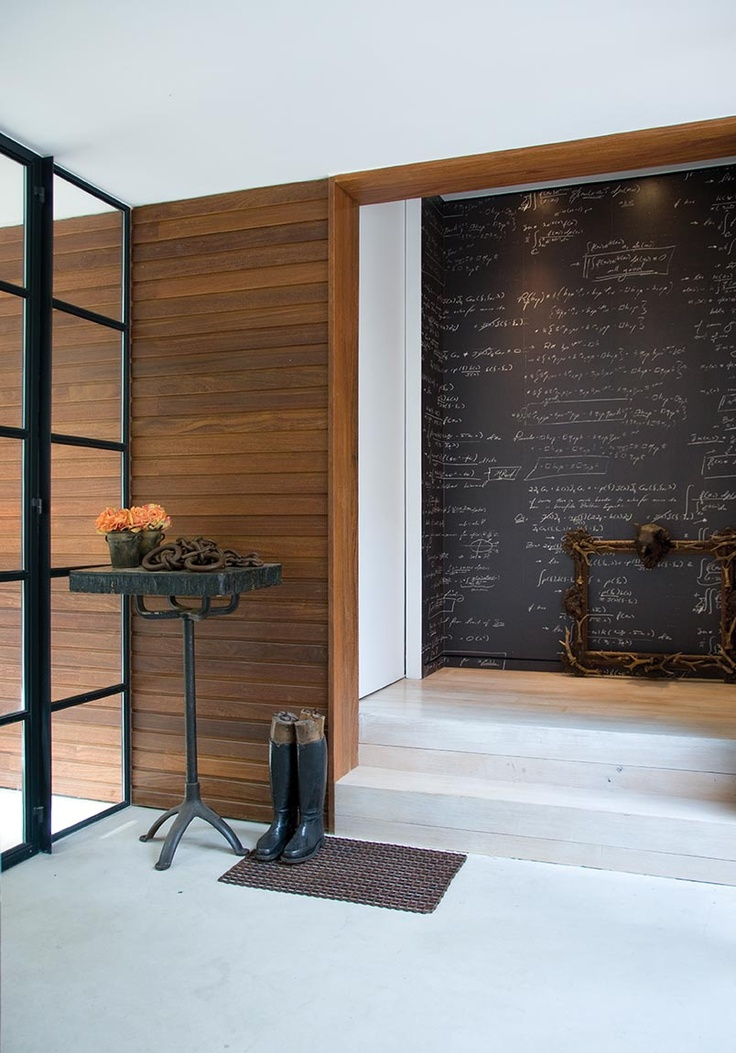 """Chalk Board Wall  A home in Sag Harbor, Hamptons, New York—named """"31 Pigeons"""""""