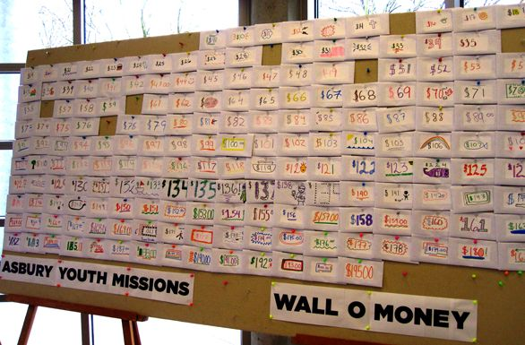 The Best Youth Ministry Fundraiser Ever: The Wall O Money - This is such a fantastic and simple idea. Definitely one of the best Church Fundraising ideas you could look into doing! For more ideas: www.rewarding-fundraising-ideas.com/church-fundraising-ideas.html