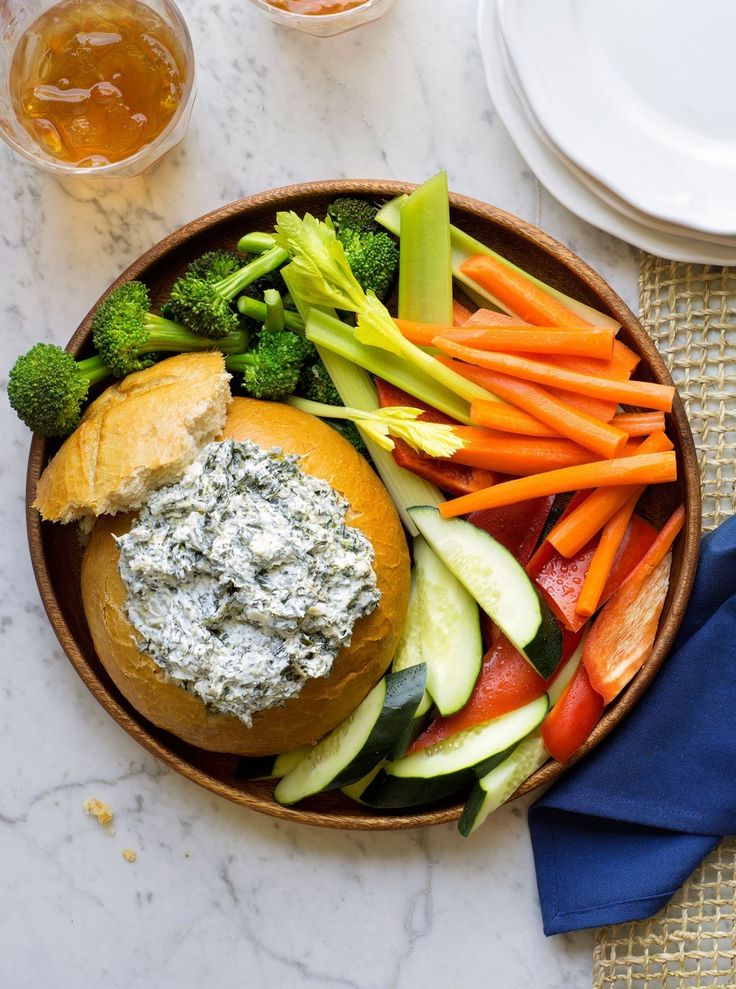 A favorite standby, our Original Ranch Spinach Dip saves the day when Thanksgiving turkey still isn't out of the oven, but guests are getting the hunger grumps. Serve with bright, beautiful veggies, and you'll have an appetizer that doesn't take away from the meal.
