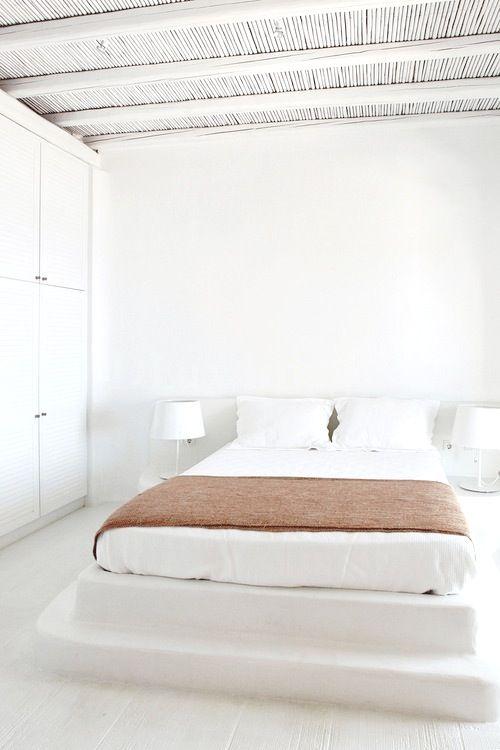 46 best minimalist bedrooms images on pinterest for Minimalist rustic bedroom